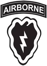 - Military, 25Th Infantry Division Airborne Patch, Vinyl Car Decal, 'Multiple Colors', '10-by-10 inches'