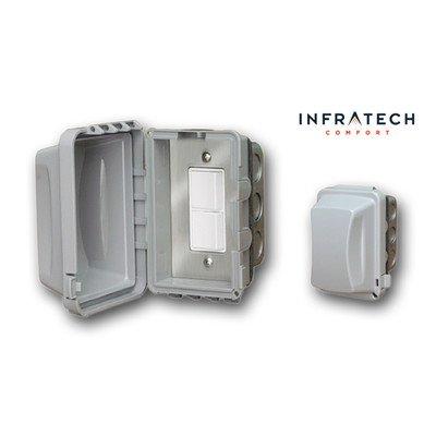 In-Wall Waterproof Duplex Switch Assembly by Infratech