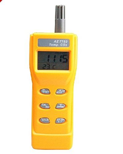 (Smart Meter AZ-7752 CO2 Meter tester Handheld Analyser Temp TEMPERATURE RH Meter 9999 ppm)