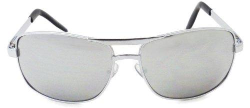 Square Mirrored Lens Metal Aviator Sunglasses with Spring - Sunglasses Narrow Aviator