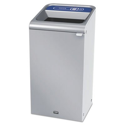 Configure Indoor Recycling Waste Receptacle, 23 Gal, Stainless Steel, Paper by Rubbermaid