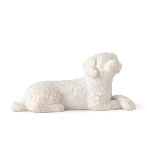 Willow Tree Love My Dog (Small, Lying Down), Sculpted Hand-Painted Figure