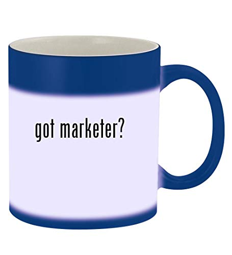 got marketer? - 11oz Magic Color Changing Mug, Blue
