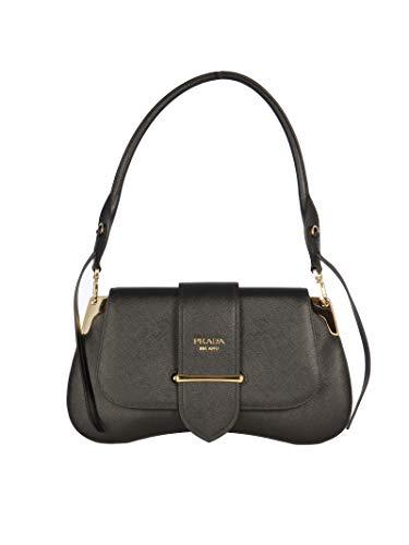 Luxury Fashion   Prada Woman 1BD175VOJGNZVF0002 Black Leather Shoulder Bag   Fall Winter 19