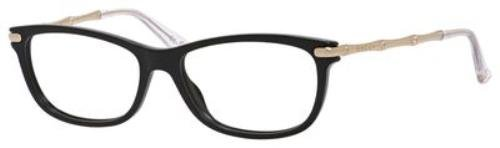 GUCCI Eyeglasses 3779 0HQW Black Gold - Black And Gucci Gold Glasses