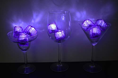Litecubes Brand Jewel Color Tinted Amethyst Purple 3 Mode Light up LED Ice Cubes (8)