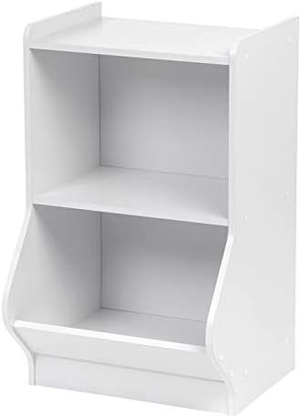 IRIS USA KSB-2WHT 2-Tier Storage Organizer Shelf