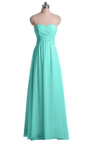 Long Floor Angel Hunter Dresses Length Sweetheart Green Bride Bridesmaid Graceful Chiffon wwqx8AUC