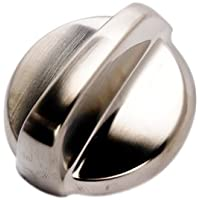 GE WB03T10284 Plastic Burner Knob for Stove - Stainless Steel Finish