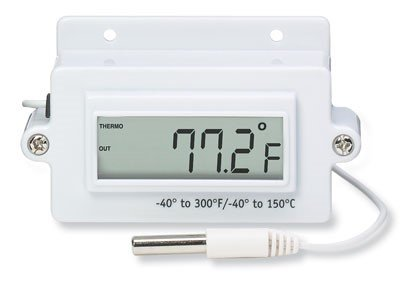 Taylor 9940 Panel-Mount LCD Thermometer with Remote Probe; -40-150C/-40-300F