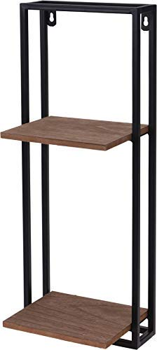 Metall Wandregal mit Holz Ablage 53x20x15 cm Design Schweberegal Hängeregal