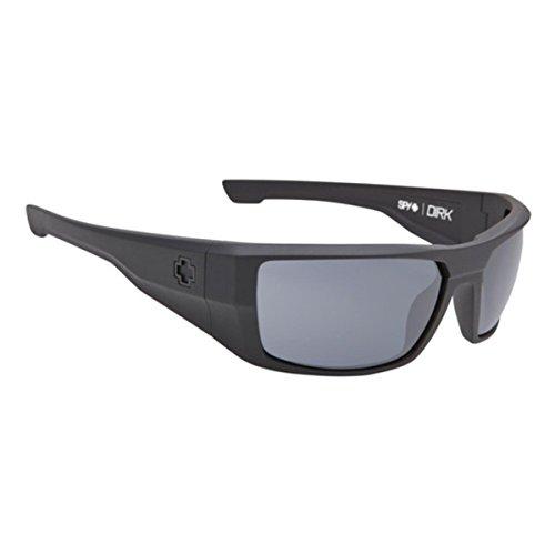 Spy Optic Men's Dirk Matte Black Polarized Wrap, 64 mm