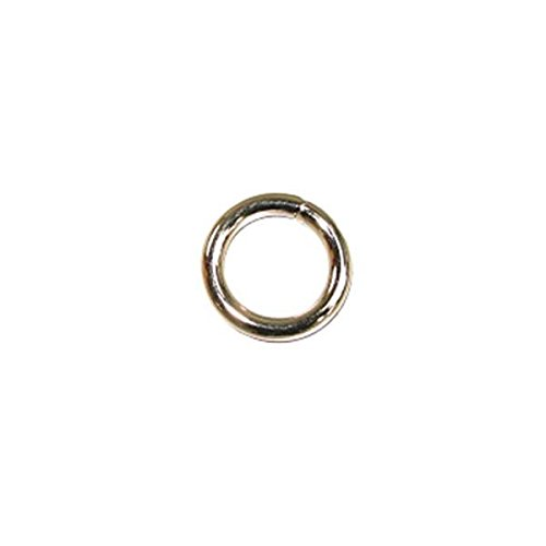 Solid Welded O Ring Nickel Plated 10/pk 1/2''