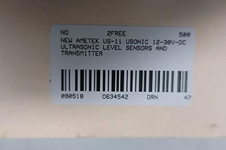 AMETEK US-11 USONIC 12-30V-DC ULTRASONIC Level Transmitter D634542: Amazon.com: Industrial & Scientific