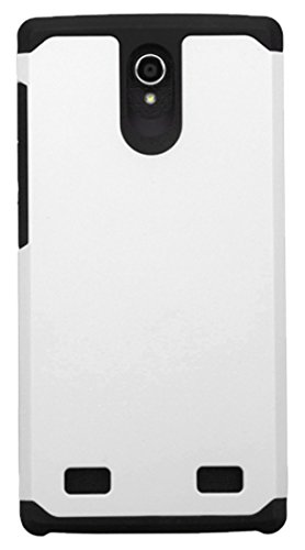 Asmyna Cell Phone Case for ZTE Z958 - Retail Packaging - Black/White