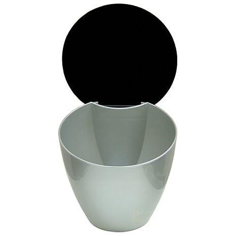 Rosti Calypso 7 x 7.5-Inch Compost Waste Bin, White Port Style RST85501W