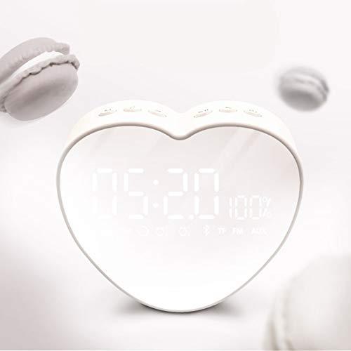 Format C-card Port - Wireless Mini Bluetooth Speaker Portable Alarm Clock tf Card Home Phone -C 13x11x4.5cm(5x4x2)