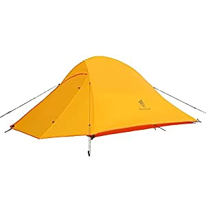 GEERTOP 2 Person 3-4 Season 4 lbs 20D Lightweight Waterproof Dome Backpacking Tent for Camping Hiking Climbing Travel