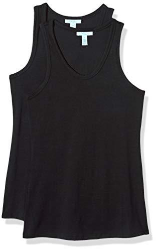 Amazon Brand - Daily Ritual Women's Stretch Supima Cotton Racerback Tank Top, Black, - Cotton Supima Tank