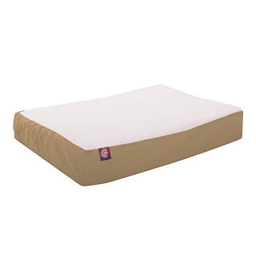 34x48 Khaki Orthopedic Double Pet Bed By Majestic Pet Products-Large/Extra Large