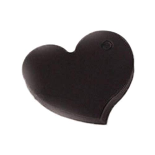 JEWH 50 Pcs Heart Wedding Invitations Card Kraft Paper Craft Favors Decoration Halloween Christmas Birthday Party Supplies 4.5x4cm (Black) -