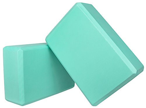 Spoga Premium Quality Yoga Blocks (Set of 2) 9' X 6' X 3' Inches (Green)