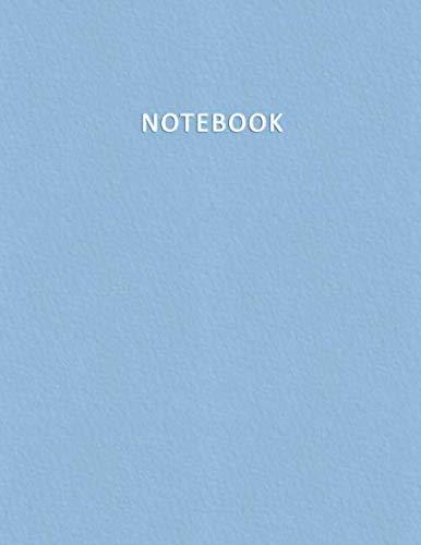 Notebook: Quaderno per appunti con 100 pagine bianche e numerate - Elegante e Moderno color pastello nella tonalità Azzurro Bebè - Misura A4 - Diario, ... Disegni, Note, Memorie (Italian Edition)