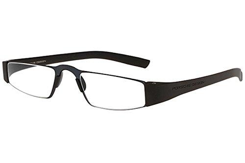 Porsche Design P8801 Eyewear Mens/Ladies Stainless Steel Half-Eye Readers Size 48-20-150mm- Dark Blue (S) - Glasses Porsche Eye