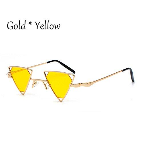 Triángulo Tonos C5 oro Gafas Yellow gris Gafas sol de Hombre de TL Gold de gafas de Sunglasses Mujer UV sol G389 C1 lujo yqfwYOS0