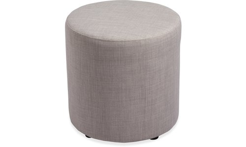Lorell(R) Collaborative Seating Cylinder Ottoman, Fabric, Slate by Lorell