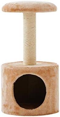 猫の木の塔、子猫の活動塔、サイザル麻布で覆われた傷ポストと豪華なコンドミニアム、ベージュと子猫のためのペット家具 (Color : Beige)