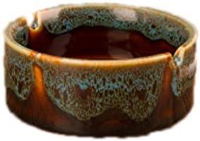 灰皿 , レトロホーム灰皿クリエイティブセラミック灰皿多機能装飾 (色 : A, サイズ : 9*4cm)