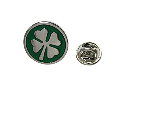 Kiola Designs Four Leaf Lucky Clover Lapel Pin -