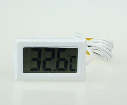 LtrottedJ DC Mini Digital,LCD High Temperature, Thermometer With Probe Celsius