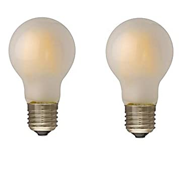 B22 E26/E27 Bombillas de Filamento LED G60 4 leds COB Regulable Blanco Cálido 400lm