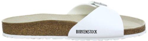 Birkenstock Madridbf, Mules Femme - Blanc (Vernis Blanc), 45 EU