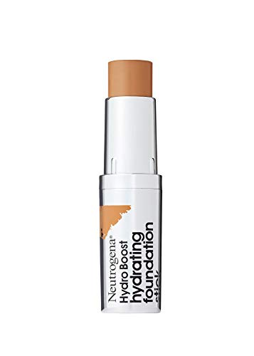 - Neutrogena Hydro Boost Hydrating Foundation Stick with Hyaluronic Acid, Oil-Free & Non-Comedogenic Moisturizing Makeup for Smooth Coverage & Radiant-Looking Skin, Cocoa, 0.29 oz