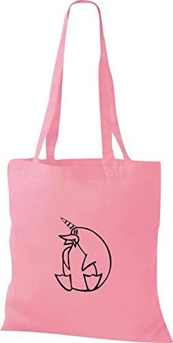 unicorno Di Cm pinguino Stoffa Einhornpinguin Rosa X 42 Divertente Borsa 38 Shirtstown Animali cZy4T1qO1w