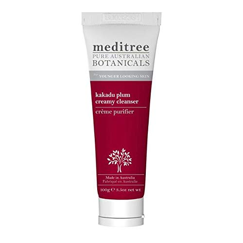 NaturesPlus Meditree Pure Australian Botanicals Kakadu Plum Cleanser - 3.5 oz - Gentle Cleansing Cream For Younger Looking Skin - Soothes Complexion - Vitamin C Rich - Natural, Vegan (Best Cream For Younger Looking Skin)