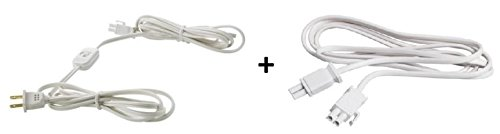 (Ikea Ansluta Power Supply Cord and Intermediate Connection Cord Bundle Includes - Ansluta Power Supply Cord (Length 11' 6