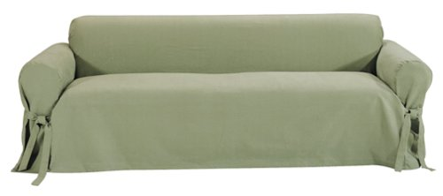 Classic Slipcovers Brushed Twill Sofa Slipcover, (Twill Sage)