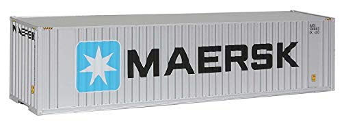Walthers SceneMaster 40' Hi-Cube Corrugated Container w/Flat Roof Maersk - Assembled Train Collectable Train