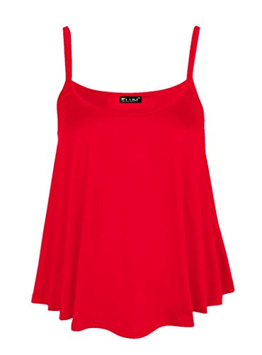Elum® - Camiseta sin mangas - para mujer Rosso