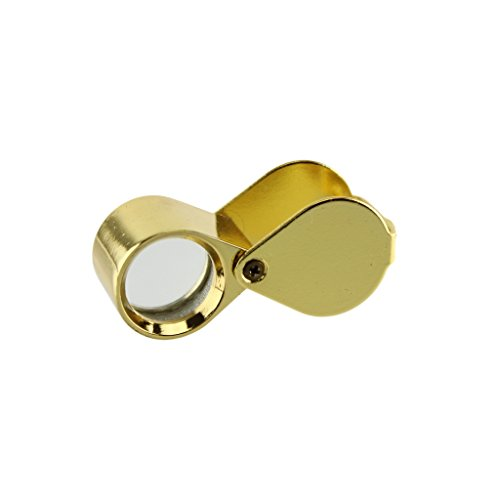 Quality Optics Gold Jewelers Eye Loupe Magnifier Magnifying Lens Loop Glass Watch Repair - Parts Eye And Definitions