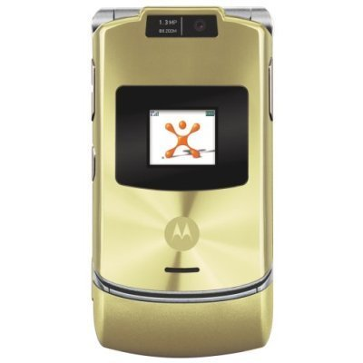 Motorola RAZR V3xx Gold No Contract AT&T Cell Phone