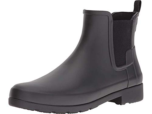 Hunter Women's Original Refined Chelsea Boots Black 8 M US