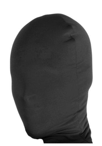 Black Skin Costumes (Rubie's Costume Black 2nd Skin Mask, Black, Adult)