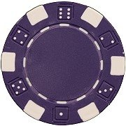 25 Clay Composite Dice Striped 11.5 gram Poker Chips, Purple