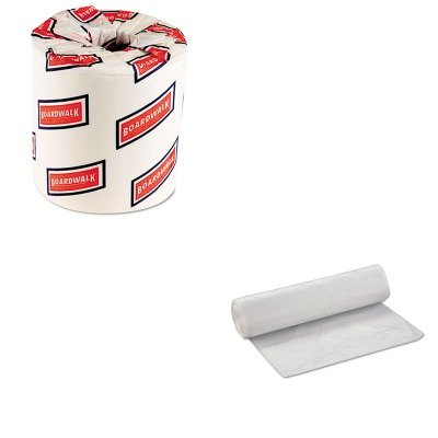 KITBWK6180IBSVALH4048N16 - Value Kit - Integrated Bagging Systems VALH4048N16 Natural Can Liners, 14 Micron, 40 - 45 Gallons (IBSVALH4048N16) and White 2-Ply Toilet Tissue, 4.5quot; x 3quot; Sheet Size (BWK6180)