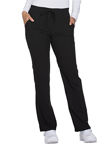 Dickies Xtreme Stretch by Women's Drawstring Straight Leg Scrub Pant Small Petite Black